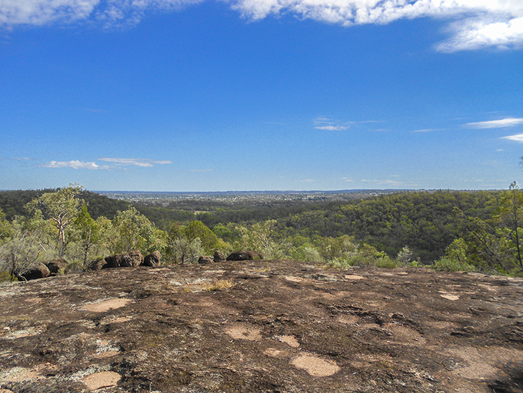 Inverell from Thunderbolt's Lookout at Goonoowigall - NSW Australia