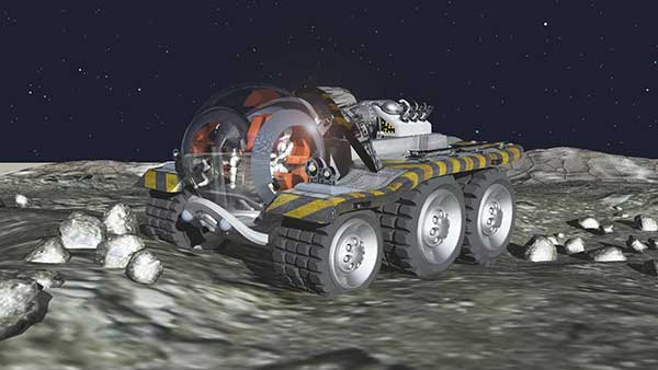 SHADO Lunar Moon Buggy - fan made cgi version