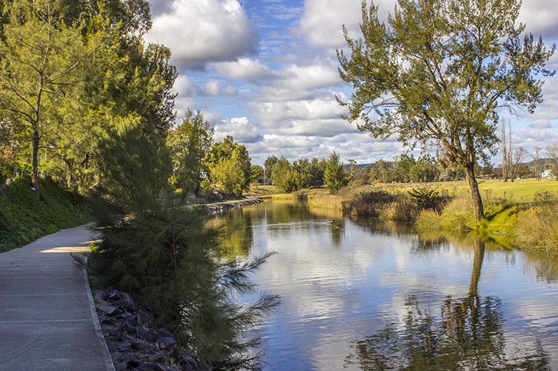 Inverell's River walk along the Macintre River - The Sapphire City