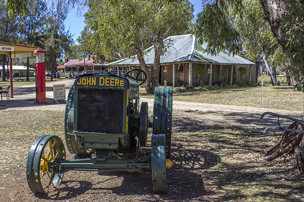 A John Deere Tractor at the Pioneer Village Inverell